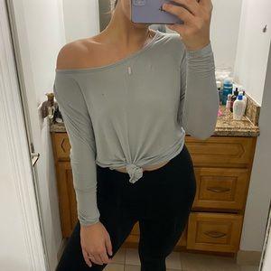 long sleeve backless shirt